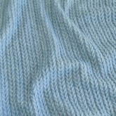 "KNIT cable ""dusty blue"""