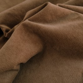 "MICRO CORDUROY fabric ""brown"""