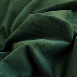 "MICRO CORDUROY fabric ""forest green"""