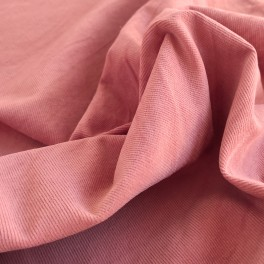 "MICRO CORDUROY fabric ""candy pink"""