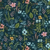 "COTTON ""amalfi flowers navy"""