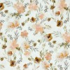 """Double gauze fabric by meter """"salmon flowers"""""""
