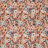 """Double gauze fabric by meter """"flowers rust"""""""