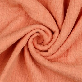 """Double gauze fabric by meter """"salmon"""""""