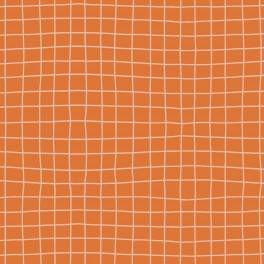 """JERSEY french terry """"grid orange"""""""