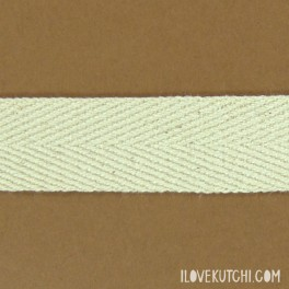 "Twill ribbon 20mm ""raw white"""