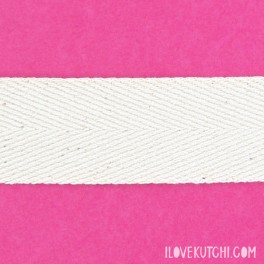 "Twill ribbon 30mm ""raw white"""
