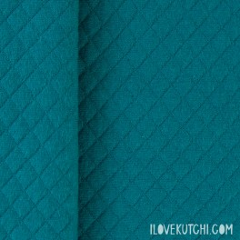 "ORGANIC DIAMOND JERSEY fabric ""petrol"""